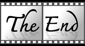 The end Movie stock illustration