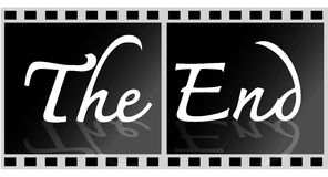 The end Movie Royalty Free Stock Images