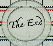 The end Movie royalty free illustration