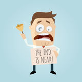The end is near cartoon man Royalty Free Stock Photo
