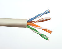 End of a Network Cable Royalty Free Stock Photo