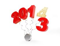 End of 2013 new year 2014 Stock Photo