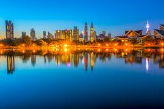 Free End Of The Night In Kuala Lumpur Royalty Free Stock Photos - 181198718