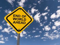 End Of World Ahead Traffic Sign Royalty Free Stock Photography