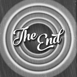 THE END old fashioned movie screen title Royalty Free Stock Image