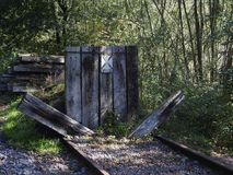 End of old railway line Stock Photography