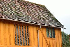 End of orange half timbered house Royalty Free Stock Photos