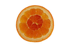 End of an orange. Isolated end of an orange Royalty Free Stock Photo
