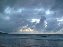 End of an overcast day at the beach Stock Photography
