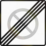 End Of Parking Restriction in Finland Royalty Free Stock Photos