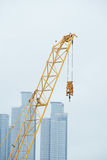 End part and hook of tower crane Stock Image