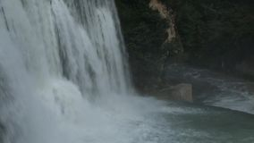 End Part of Waterfall stock video footage