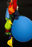 End of the party. Burst, deflated balloons Royalty Free Stock Images
