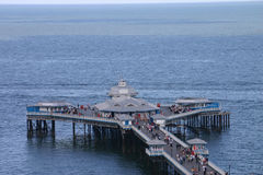 End of the Pier. Endo of Llandudno Pier in Wales stock photos