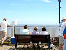 End of the pier view, Skegness. Royalty Free Stock Photo