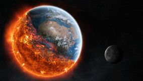 The end of planet Earth 3D rendering elements of this image furn Stock Photography