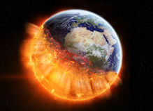 The end of planet Earth Royalty Free Stock Images