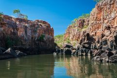 End point of Katherine Gorge river cruise in Northern Territory, Australia. Stock Photos