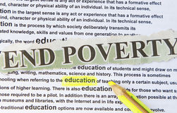 End poverty Stock Photography