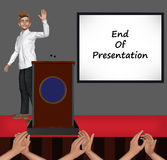 End Of Presentation Slide Illustration Stock Photo