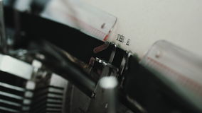 Is this the end question. The end question paper print, made with vintage writing machine. Close up view stock video