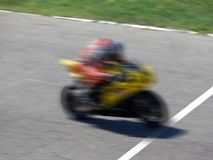End of the race. Motorbike near the end of the race royalty free stock images