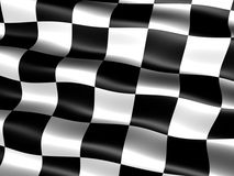 End-of-race flag. Computer generated chequered end-of-race flag with silky appearance and waves Stock Photo