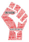 End Racism Word Cloud Royalty Free Stock Image
