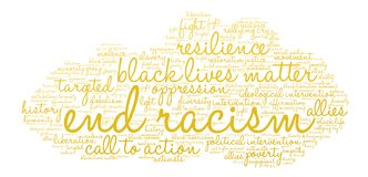 End Racism Word Cloud Royalty Free Stock Photos