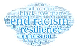 End Racism Word Cloud Royalty Free Stock Photography