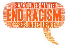 End Racism Word Cloud Royalty Free Stock Photo