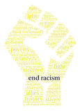 End Racism Word Cloud Stock Images