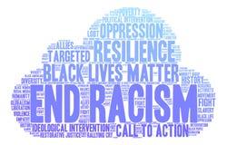End Racism Word Cloud Stock Photos