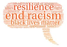 End Racism Word Cloud Royalty Free Stock Images