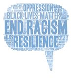 End Racism Word Cloud. On a white background Stock Image