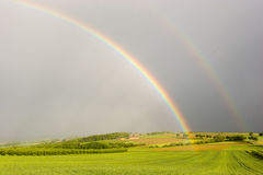 The end of the rainbow Stock Photo