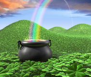 End of the Rainbow Stock Photos