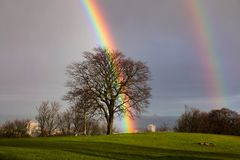 The end of the rainbow royalty free stock image