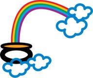 End Of Rainbow Stock Photo
