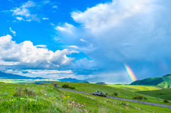 The end of rainbow stock photos
