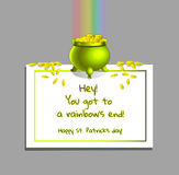 End of rainbow Royalty Free Stock Images