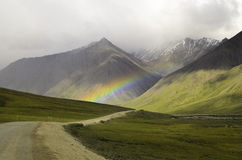 At the end of the rainbow Stock Images