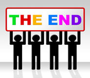 The End Represents Final Finale And Conclusion Royalty Free Stock Images