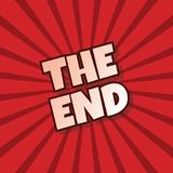 The end retro theme text. Art Stock Photos