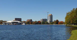 The end of the Rideau canal. Stock Photo