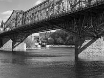 End of the Rideau Canal, a UNESCO heritage site Royalty Free Stock Image