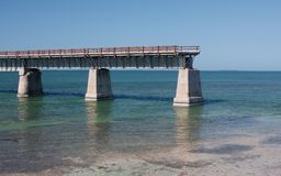 End of the Road. Permanent cut in the old 7 Mile Bridge in the Florida Keys Stock Photo