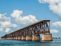 End of the Road. Decommissioned Overseas Highway bridge stands deserted and decaying at Bahai Honda Key in the Florida Keys Royalty Free Stock Images