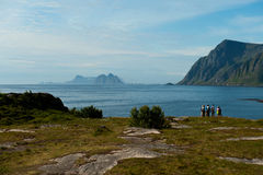 End of the road in Lofoten Royalty Free Stock Photos