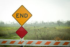 End of the Road Sign Royalty Free Stock Photo